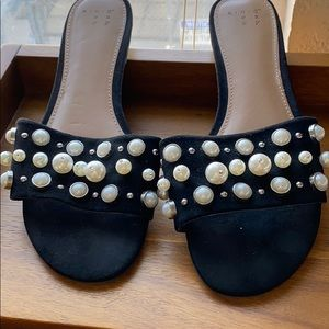 A New Day flat pearl slide sandals